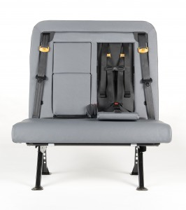 A SafeGuard ICS (Integrated Child Seat) is shown empty.